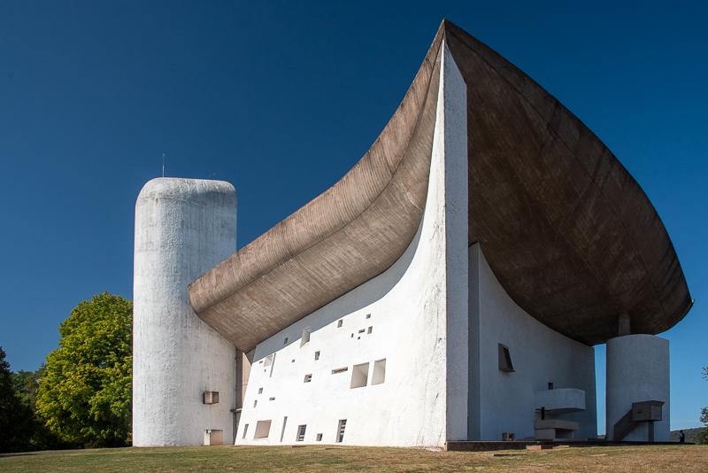 Franche-comté ; église Notre-Dame du Haut, Le Corbusier