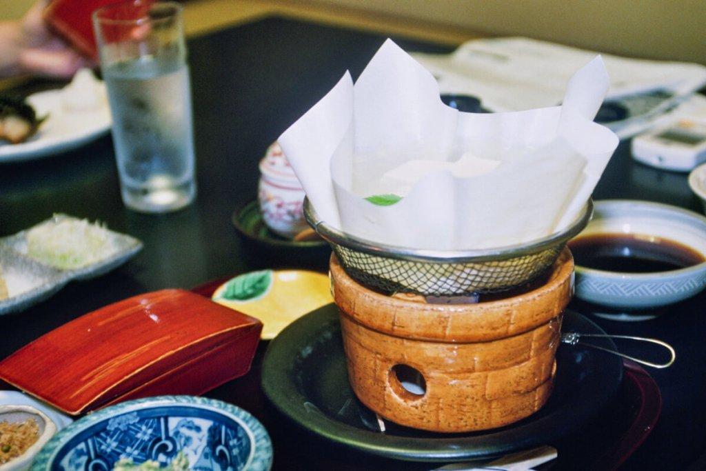 Japon, Kyoto - Repas au Ryokan Tamahan