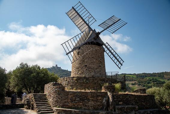 France - Ville de Collioure, moulin à huile de la Cortina