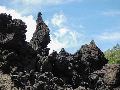 Etna, coulée de lave et formes extraordinaires