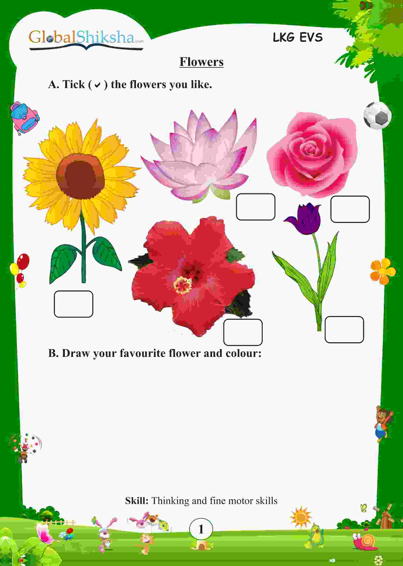 Reusable Activity Flash Cards For Nursery