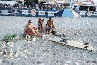 Noosa Beach mit Ole und Niki