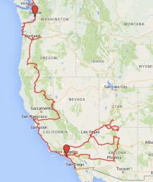 Route Westküste USA