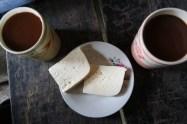 Käse und Hot Chocolate..bääh