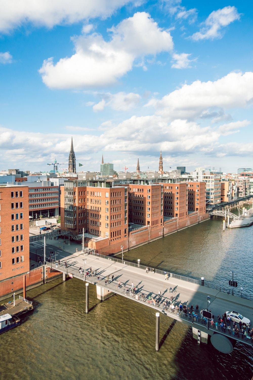 Hafencity Amburgo vista dal Plaza
