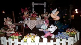 Mickey, Minnie, and the Stuffed Animals having a tea party
