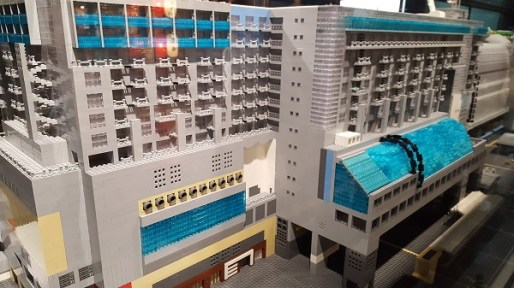 Lego replica of the Kyoto Station