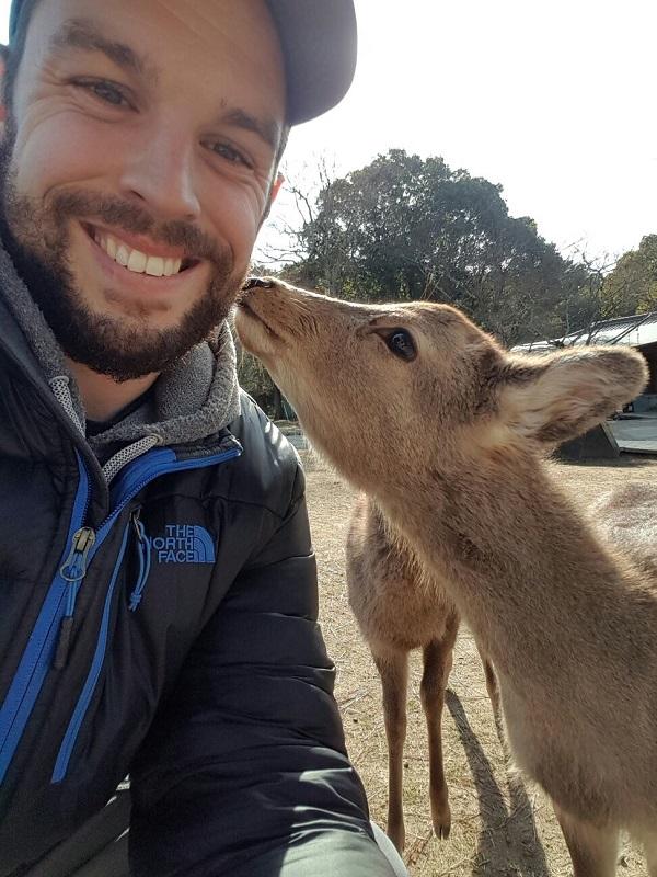 Josh, making friends