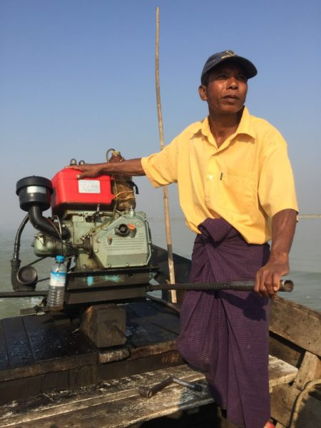 Boat captain, Irrawaddy River, Bagan, Myanmar