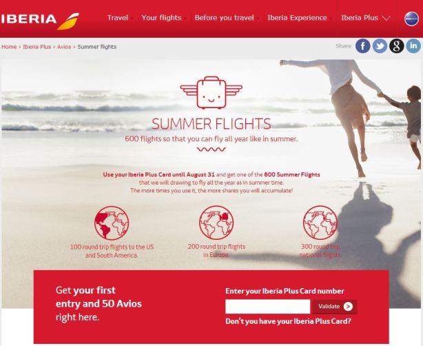 Iberia summer promotion