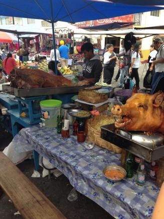 It's not only in China that I saw a head of a pork