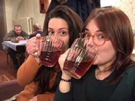 Drinking Honey Beer in faux-Soviet surroundings
