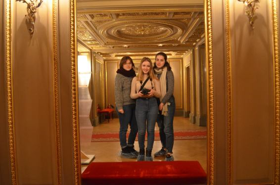 The palace contains a beautiful little theatre, with excellent selfie opportunities.