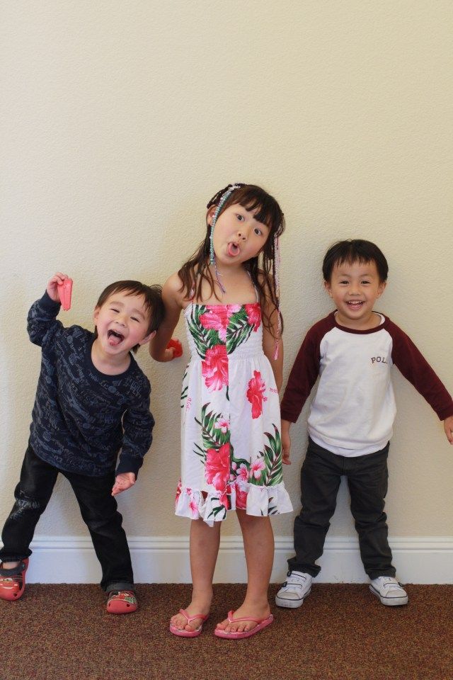 The cousins being goofy