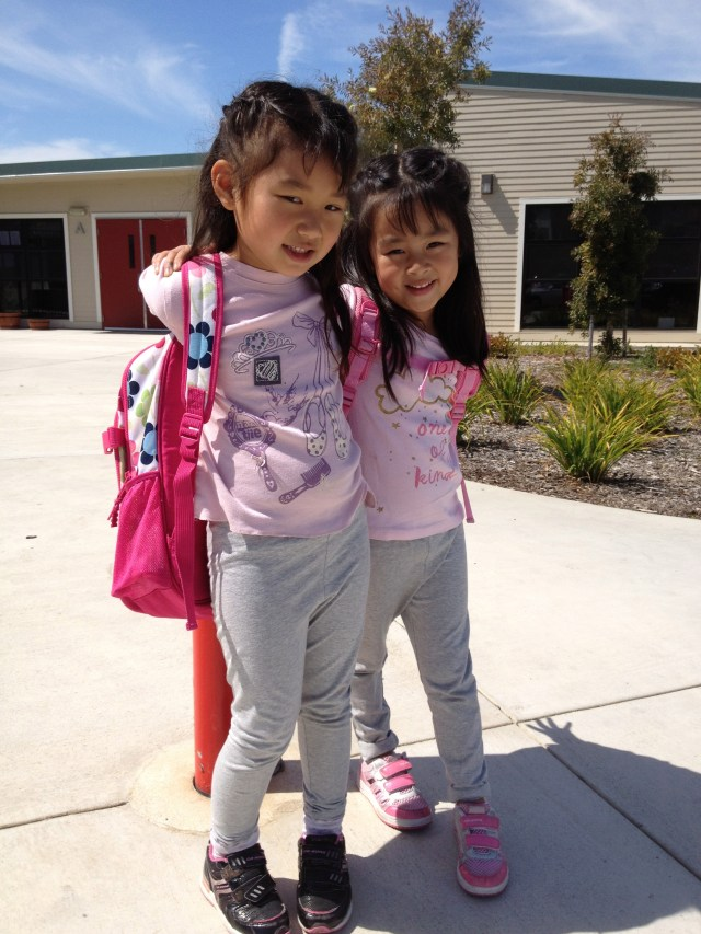 Love their walks to and from school every day during the Fall