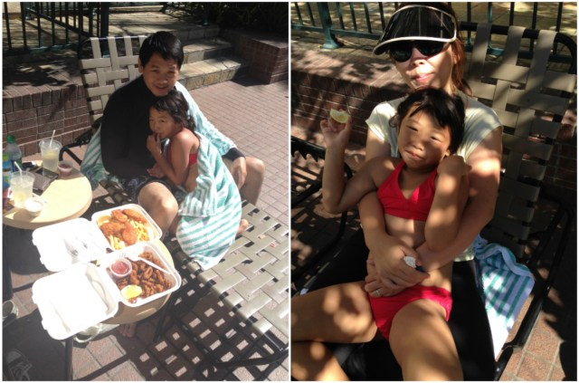 Poolside dining is also another favorite of Bridgette's vacationing style!