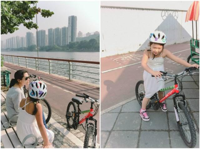 Bike riding in Shatin