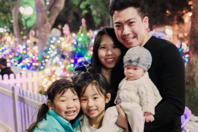Christmas in the Park with MJ, Peter, and little Mochi