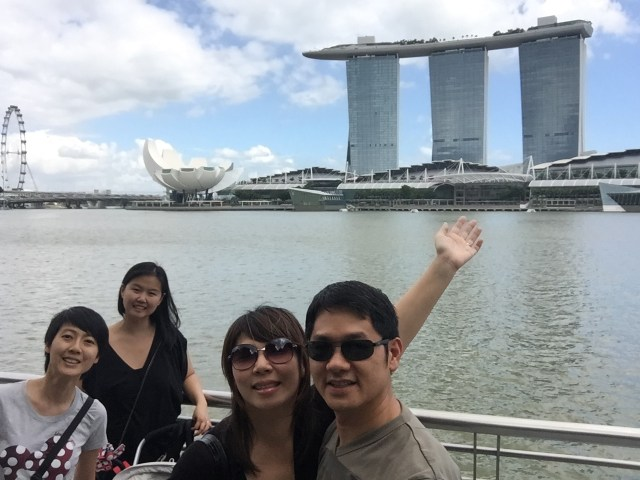 2015: Trip to Singapore with Alan and Sheena to visit Vivian and Kenny