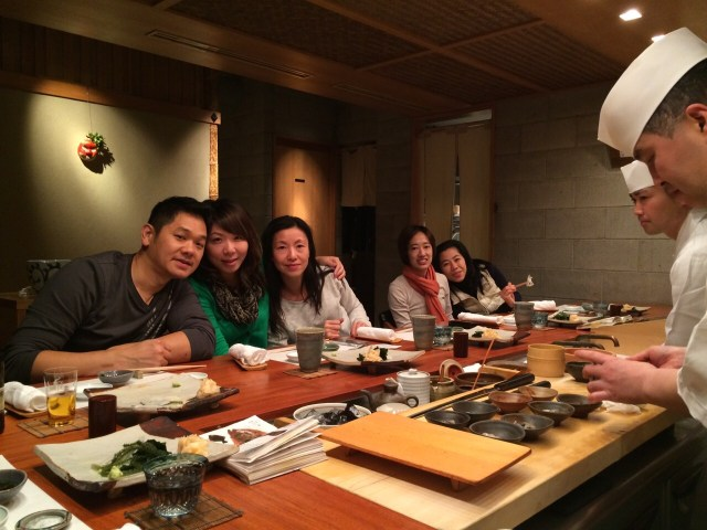 We couldn't get a reservation at Jiro's with such a large group, but this place was pretty amazing!
