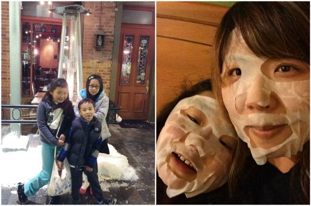Facial masks are entirely necessary when traveling to such cold places!