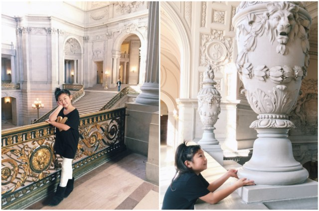 Bridge was so in awe of the beautiful architecture there, and even more in awe of the fact that her mommy planned weddings in such an extraordinary space! :)