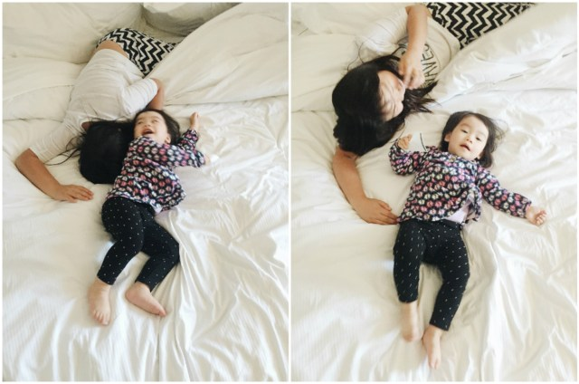 The two loved jumping and rolling all over our beds at the hotel :p