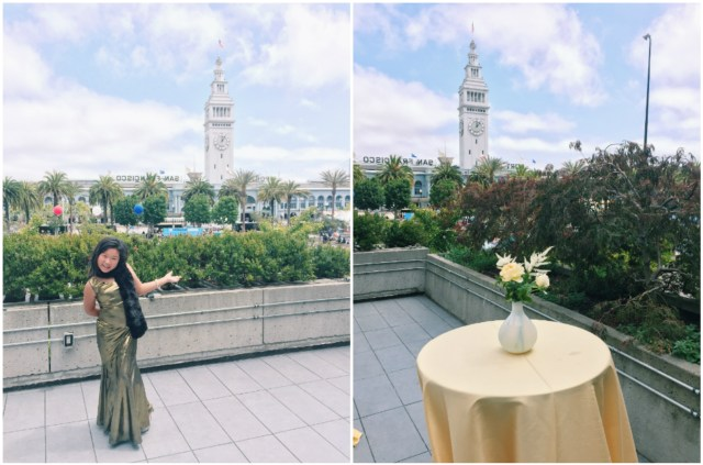One of the reasons we picked Crystal Jade was for this awesome view of the Embarcadero and Ferry Building.