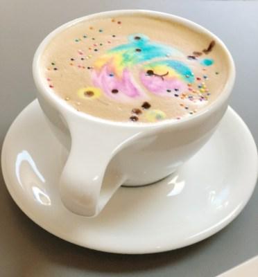 Bridge's favorite latte at the cafe HOME