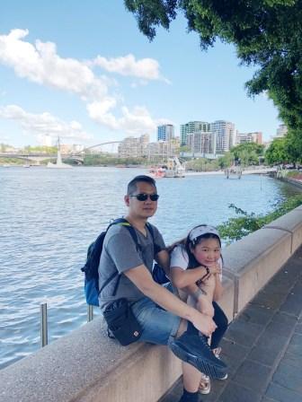 Walking along the Brisbane River