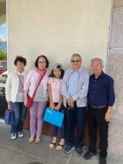 Bridge and her grandparents