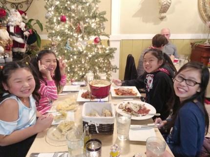 Birthday fondue with her besties