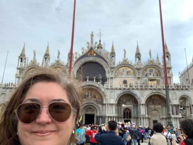 Ligia at Saint Mark's Basilica in Piazza San Marco. She'll be presenting at the Festival di Fundraising organized by the Italian Fundraising Association.