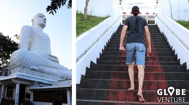 Weißer Buddha in Kandy