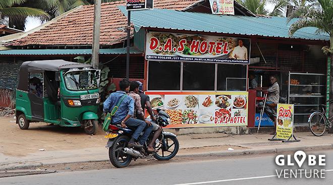 Typisches Lokal in Sri Lanka