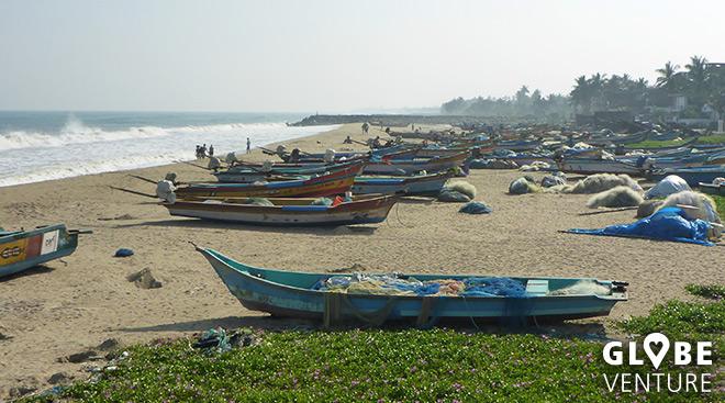 Fischerboote am Serenity Beach - Pondicherry