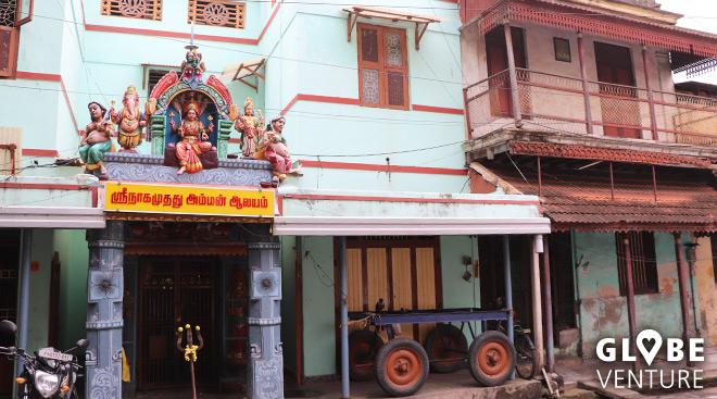 Pondicherry - Kontraste gehören hier zum Straßenbild