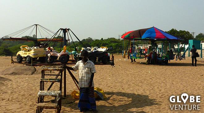 Strandrummel in Mamallapuram