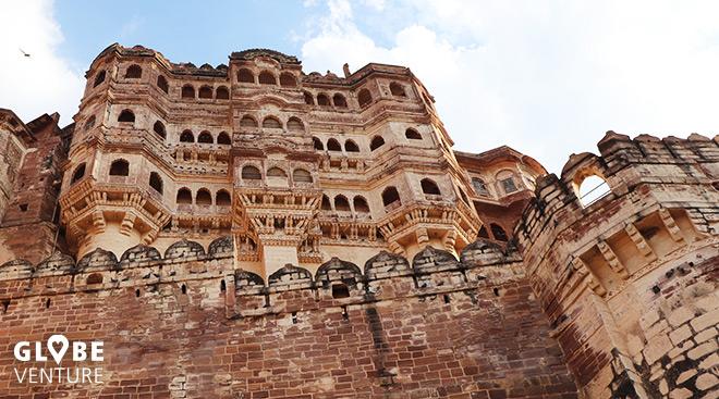 Der Palast in der Meherangarh Festung