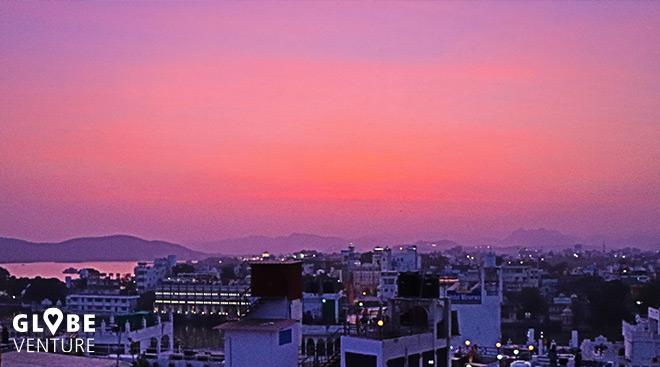 Udaipur Sonnenuntergang