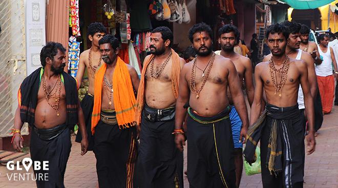 Indien Pilger Straße Männer