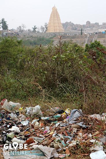 Indien Müll Hampi