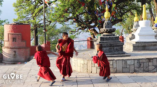 Swayambhu Stupa Kathmandu Monastery Monks