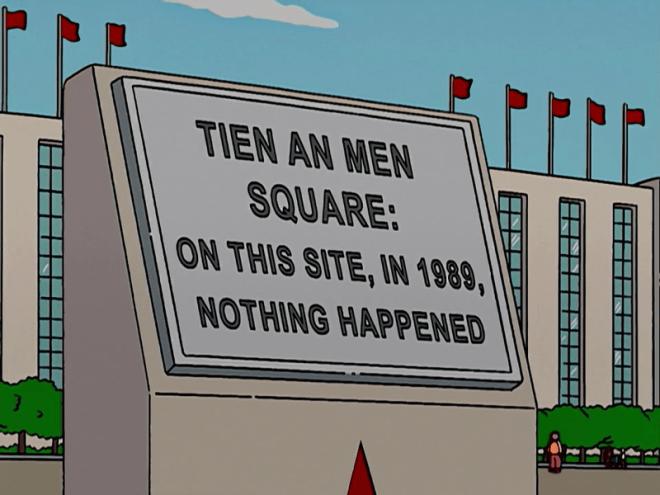 Simpsons am Tian'anmen-Platz