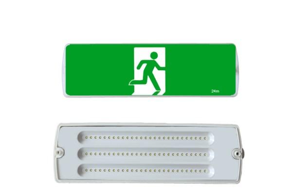 Weatherproof Exit Light IP65 LED 8W Emergency