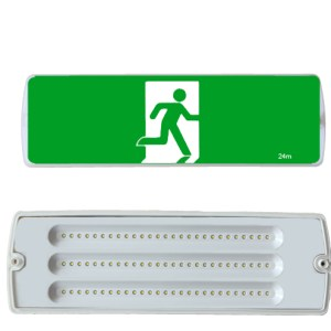 Weatherproof Exit Light IP65 LED 8W Emergency