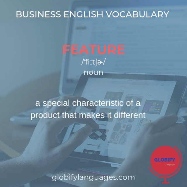 Business English Vocabulary - meaning of feature