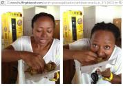 Caribbean style of eating food...Research says eating with hands Improves consciousness...
