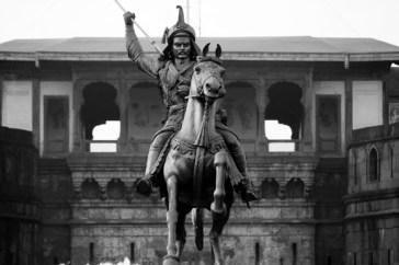 Actual Statue of Bajirao Peshwa in front of Shanivar Wada Fort Pune