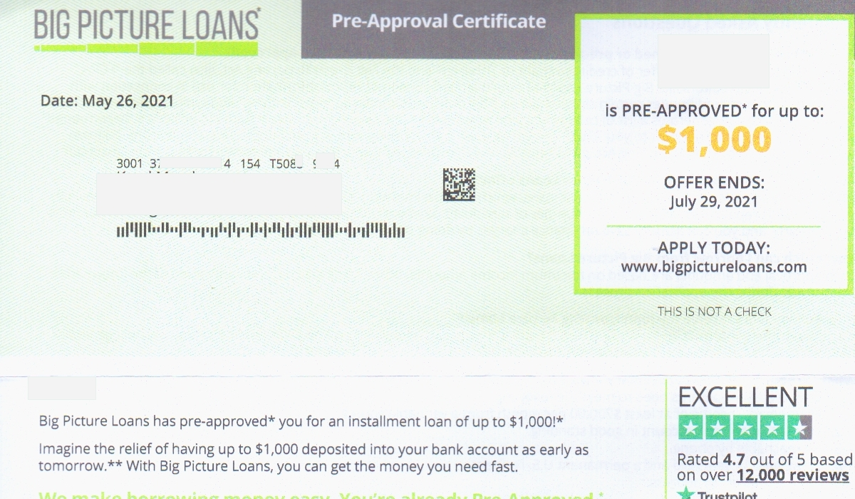 Big Picture Loans Scam
